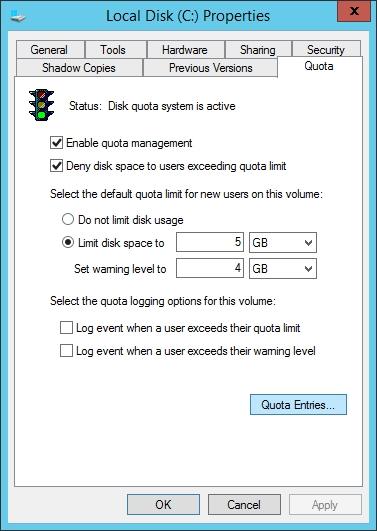 quản trị tài nguyên mạng - quota home folder 1