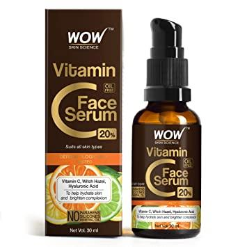 WOW Skin Science Vitamin C Serum - Skin Clearing Serum - Brightening,  Anti-Aging Skin Repair, Supercharged Face Serum, Dark Circle, Fine Line &  Sun Damage Corrector, Genuine 20% - 30ml: Amazon.in: Beauty