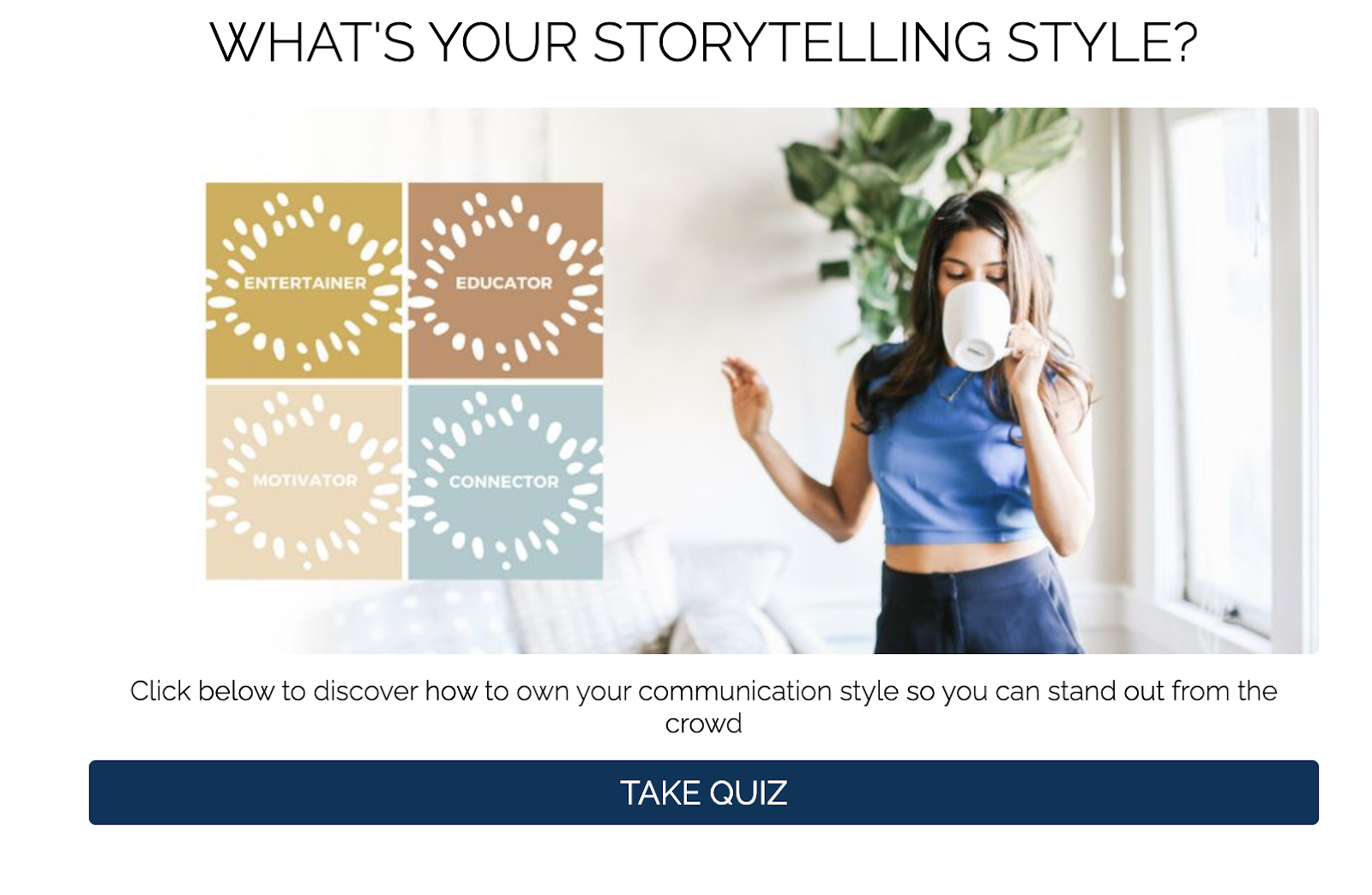 what's your storytelling style quiz cover