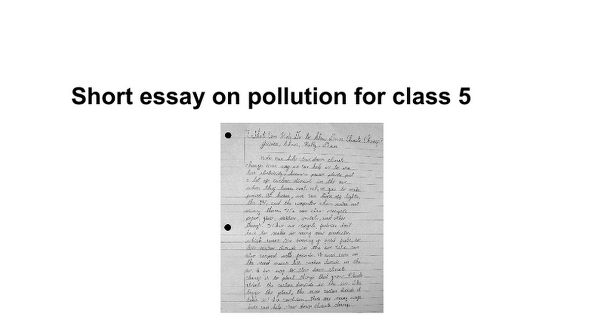Short Essay On Pollution For Class   Google Docs