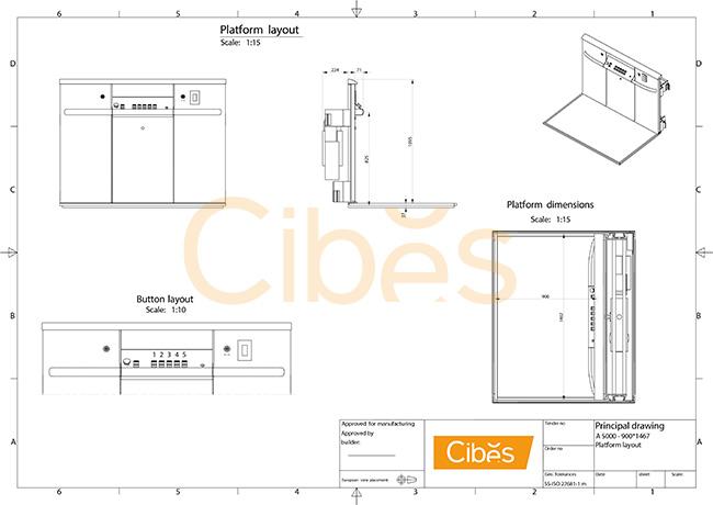 Thiết kế mô hình bảng điều khiển thang máy A5000