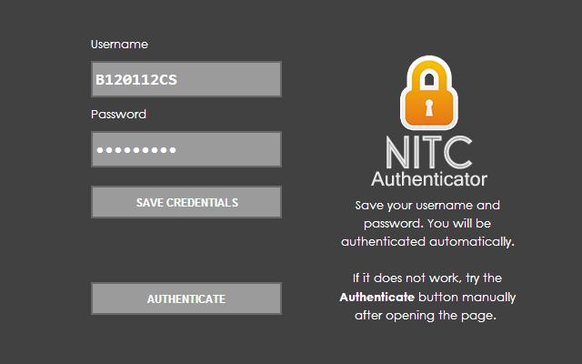 NITC Authenticator chrome extension
