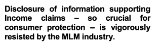 According to FTC, disclosure of income claims is important.
