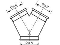 ductwork Y piece diagram