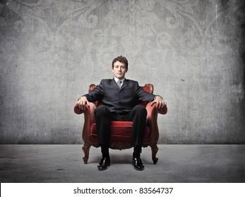 Businessman Sitting Armchair High Res Stock Images | Shutterstock