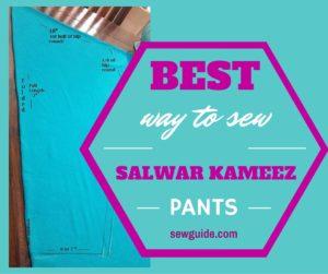 cómo coser pantalones salwar kameez.