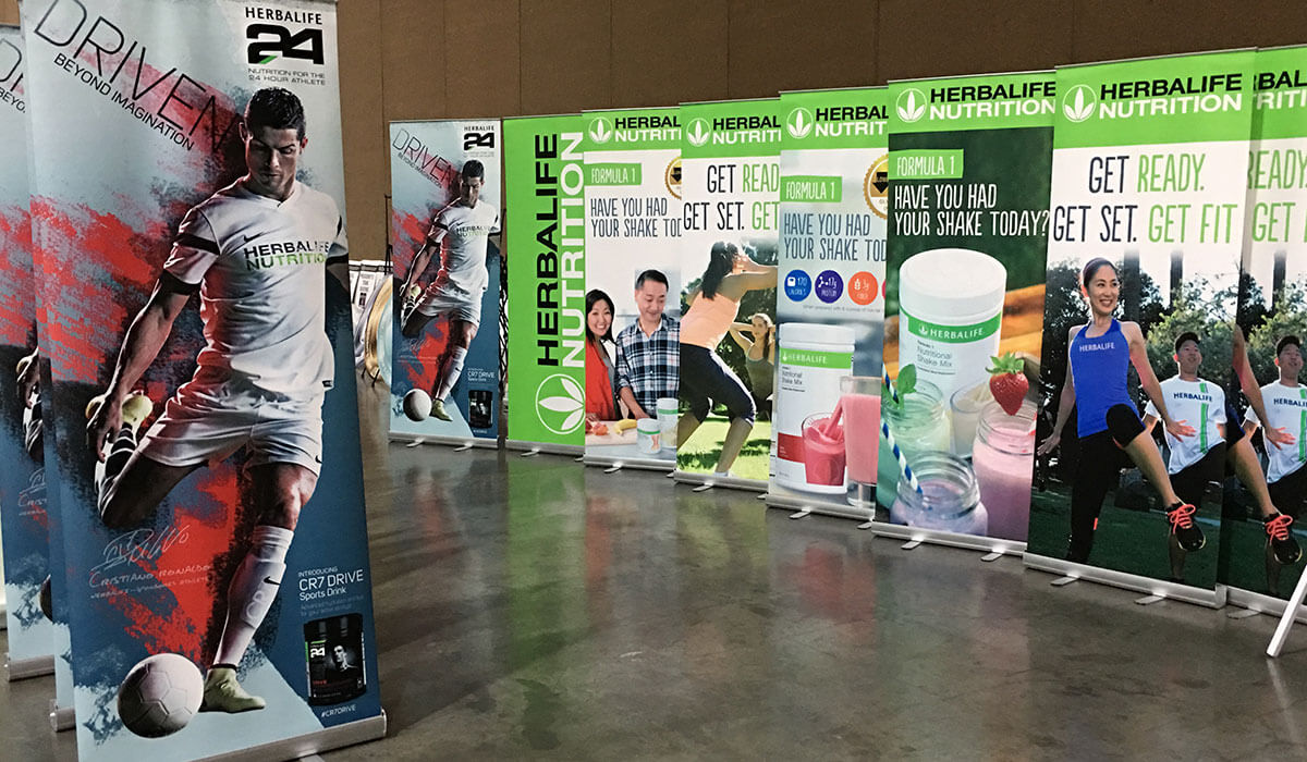 Event standees and roll up banners
