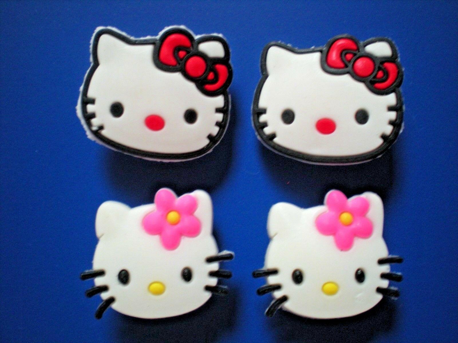 Clog Shoe Plug Button Charm Bracelet Accessorie 4 Kitty Cat Crystal