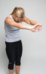 standing rhomboid stretch