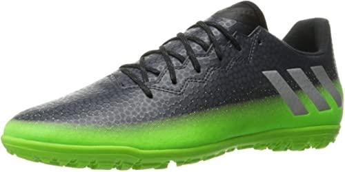 adidas Men's Messi 16.3 tf Soccer Shoe, Dark Grey/Metallic Silver/Neon Green, (10 M US)