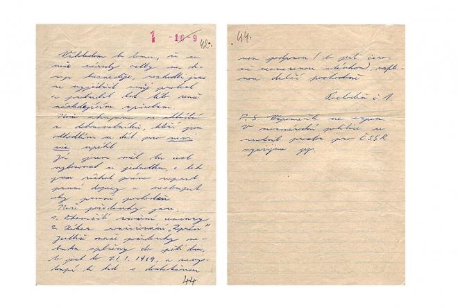 Лист Яна Палаха з підписом