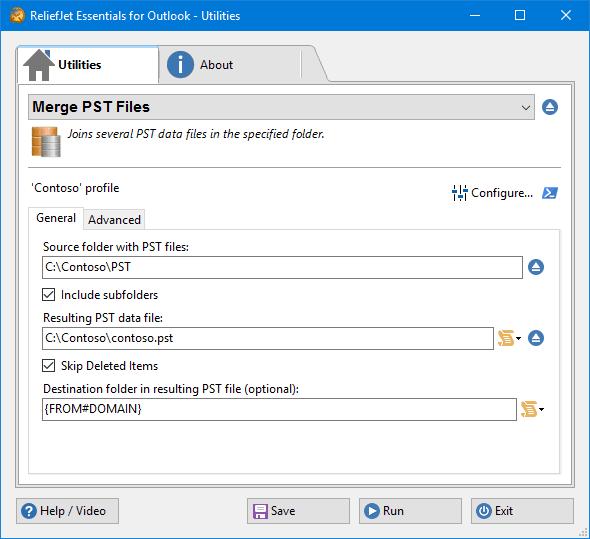 Merge multiple Outlook PST files.