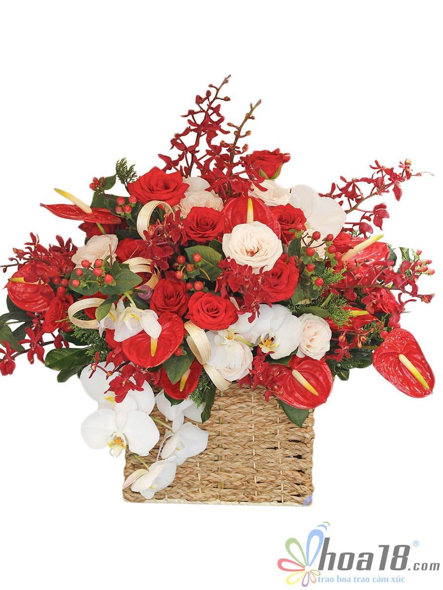 hộp hoa tươi đẹp