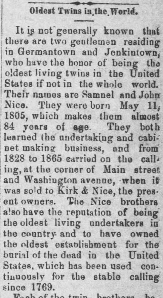 Nice oldest twins in US