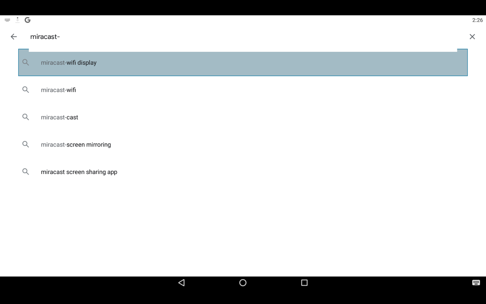 Miracast app on PC via BlueStacks