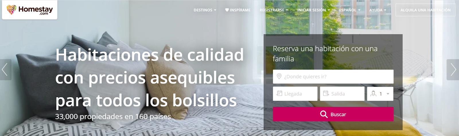 alternativas a Airbnb Homestay