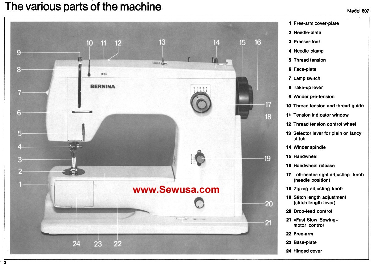 Bernina Sewing Wiring Diagram   Wiring Library