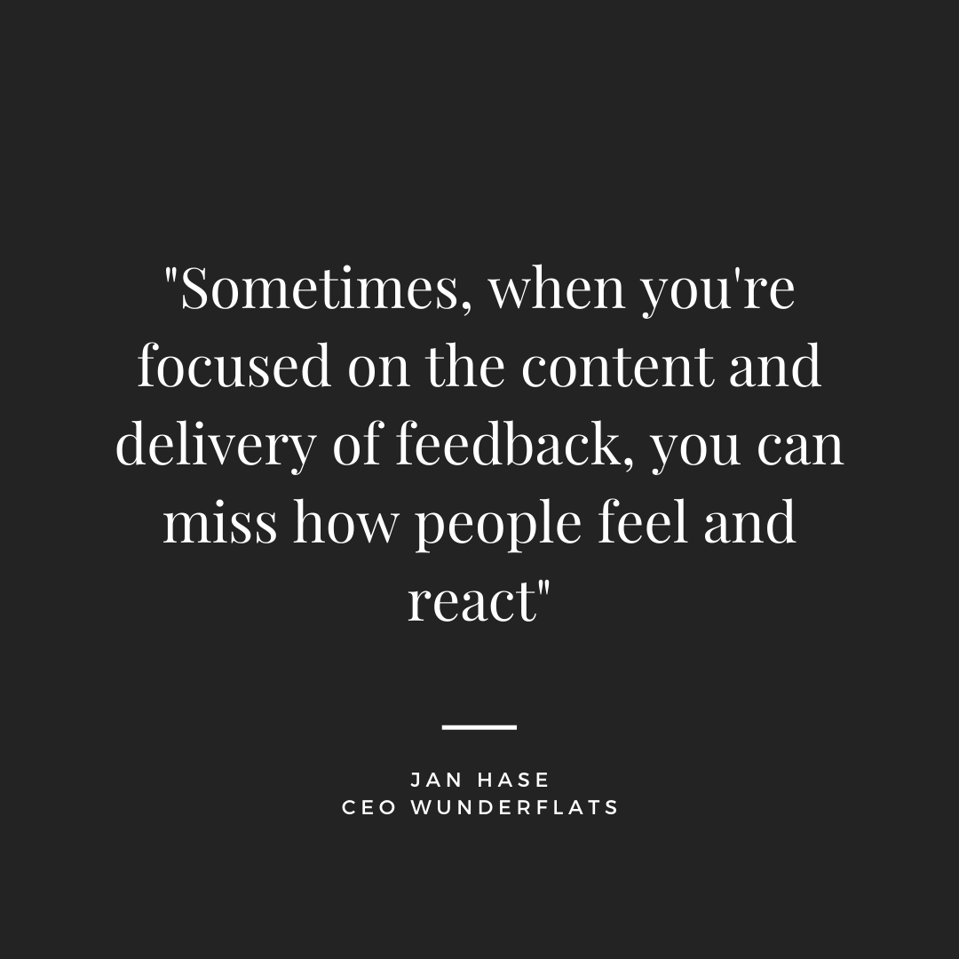 giving feedback remotely