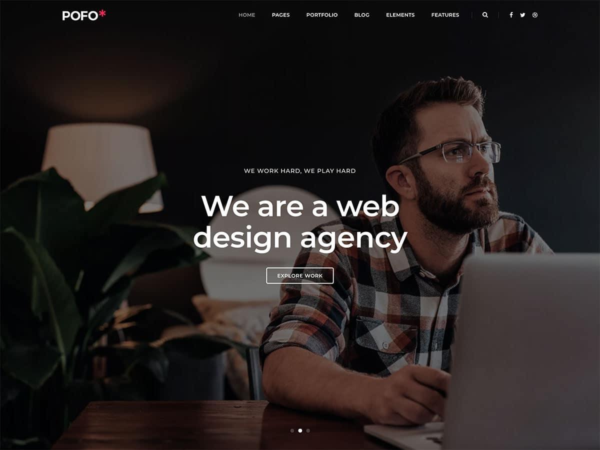 temas de WordPress para agências de Marketing