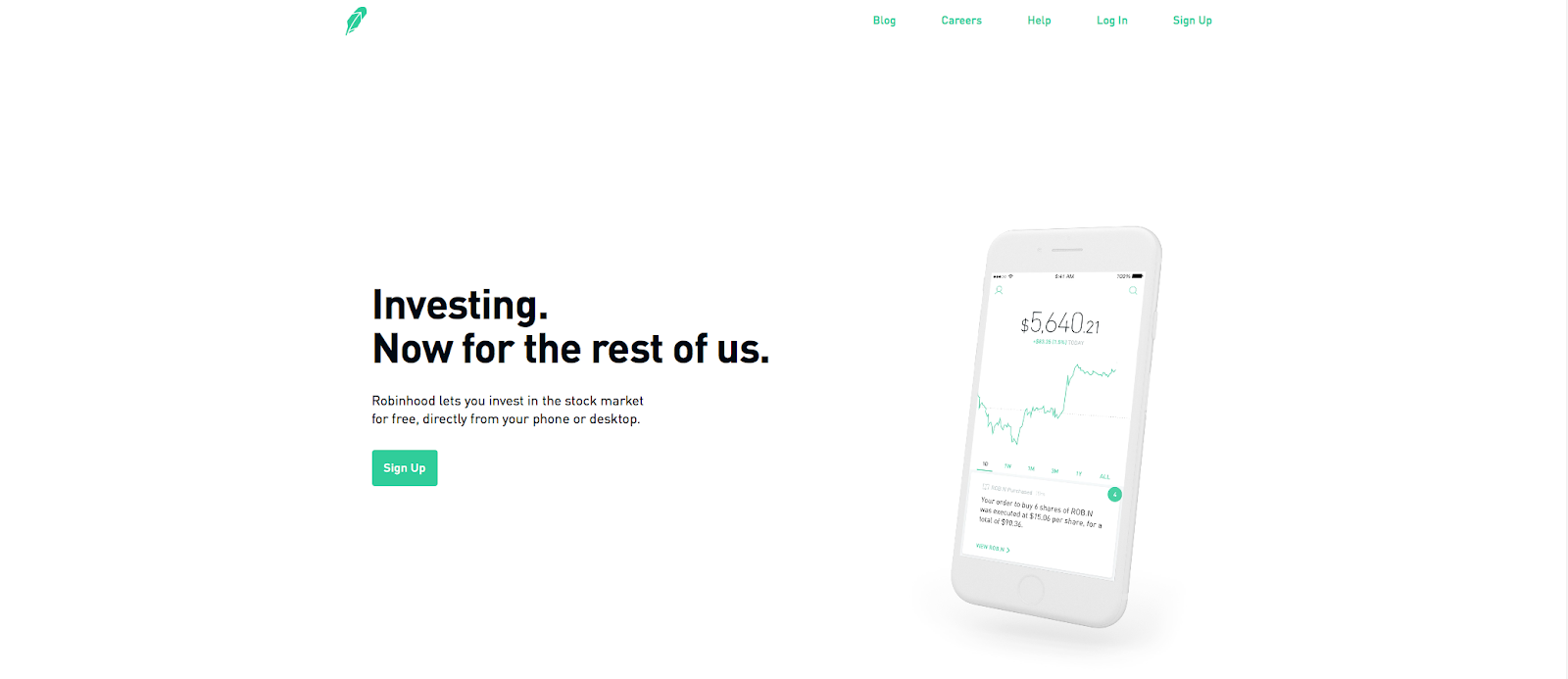 minimalist homepage example
