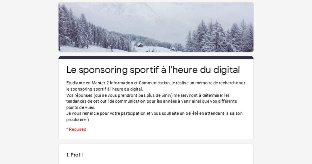 Le sponsoring sportif à l'heure du digital