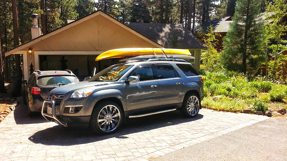 Outlook With Kayak And Paddle Board On The Roof Gmc Acadia Forum