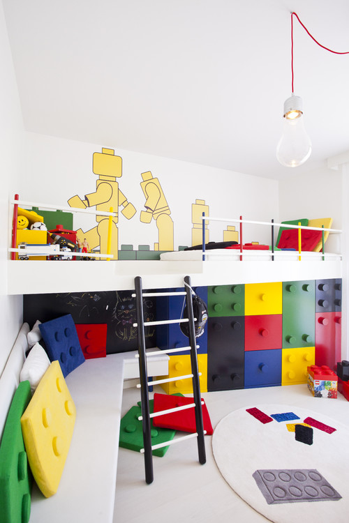 Boy Bedroom with Lego Set Ideas