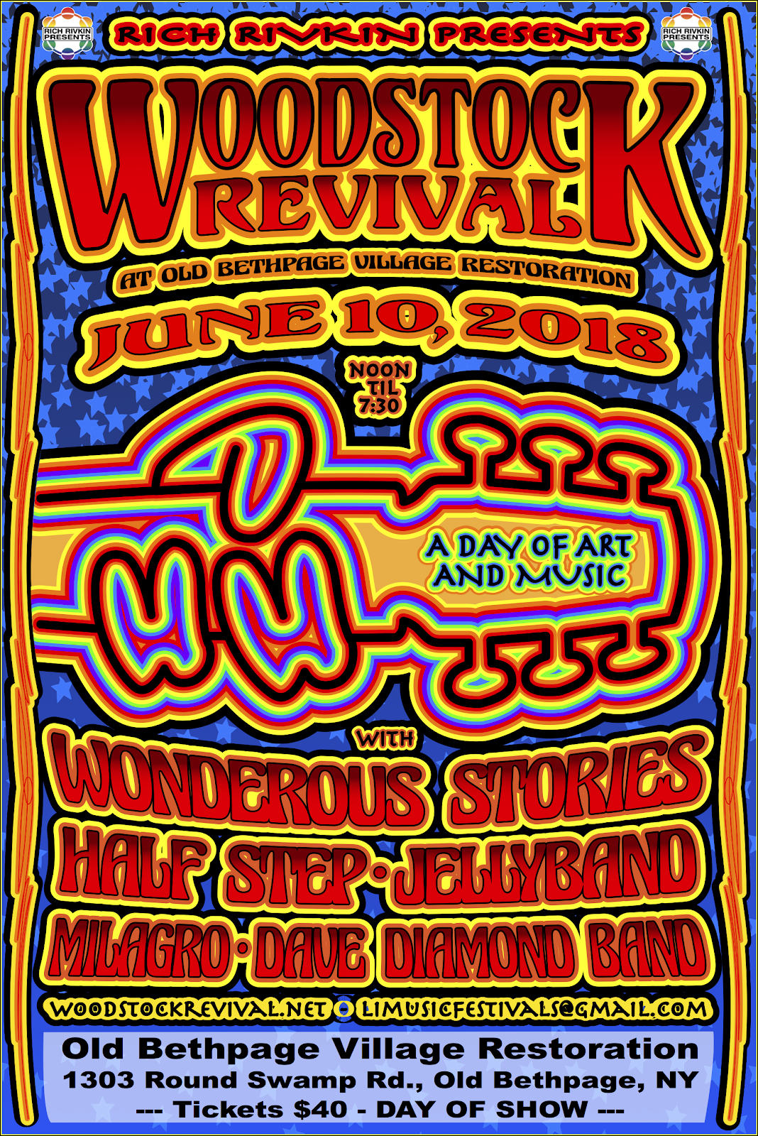 Woodstock Revival Concert to  Rock Old Bethpage Restoration  Sunday, June 10th