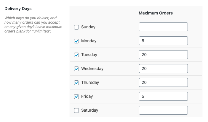 maximum orders WooCommerce