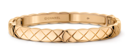 1. กำไลข้อมือผู้หญิงแบรนด์ Chanel รุ่น Coco Crush Bracelet 18k Yellow Gold