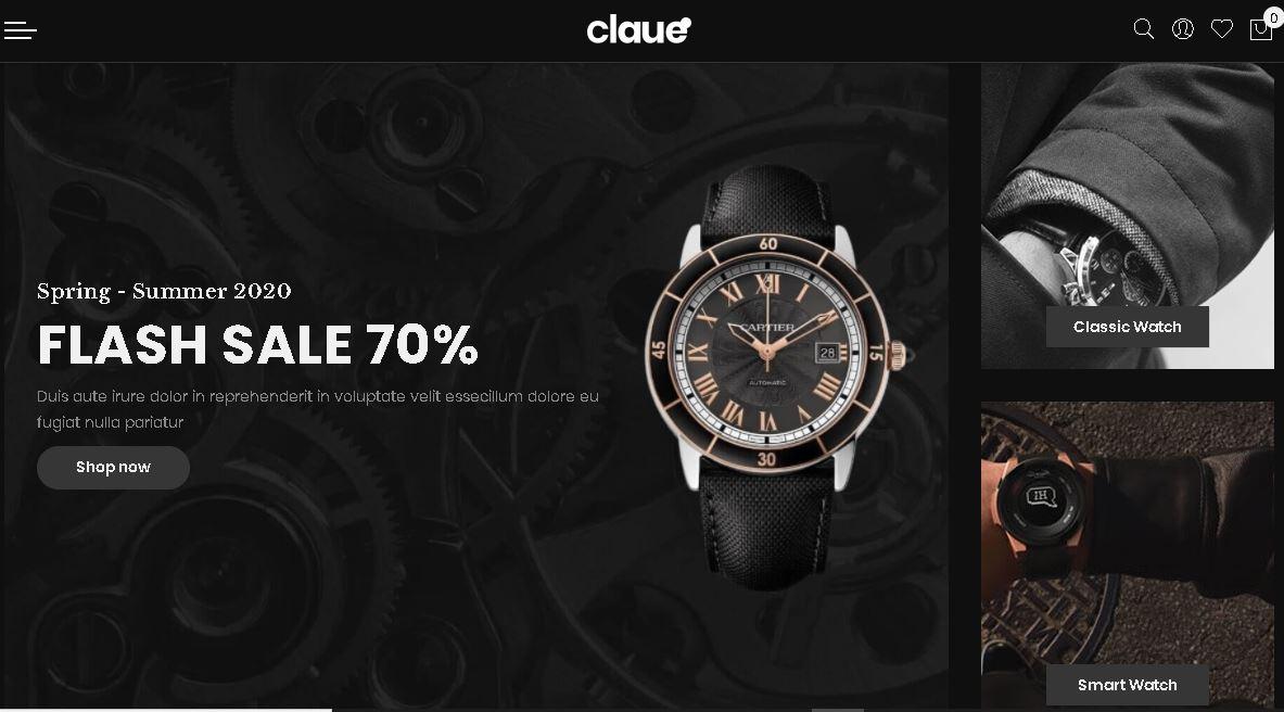 Watches magento theme claue