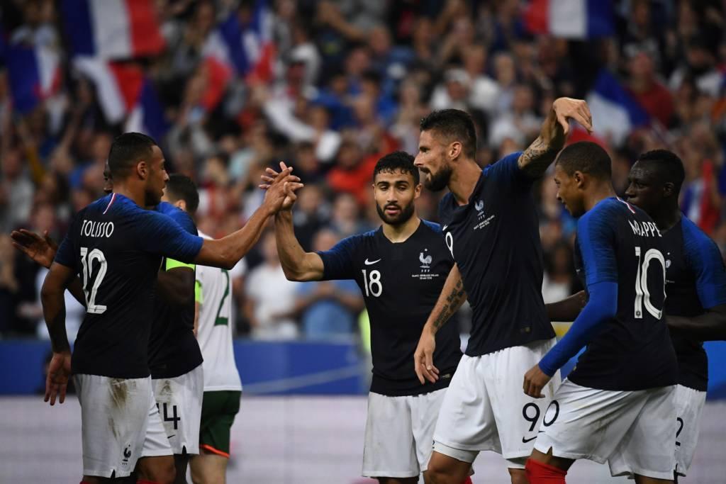 C:\Users\Carla\Desktop\Copa do Mundo 2018 - RUSSIA\Giroud e Fekir marcaram os gols da França na vitória sobre a Irlanda Foto FRANCK FIFE- AFP.jpg