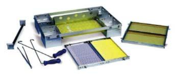 Floating freeze rack for vapor freezing of semen packed in straws by Minitube International.