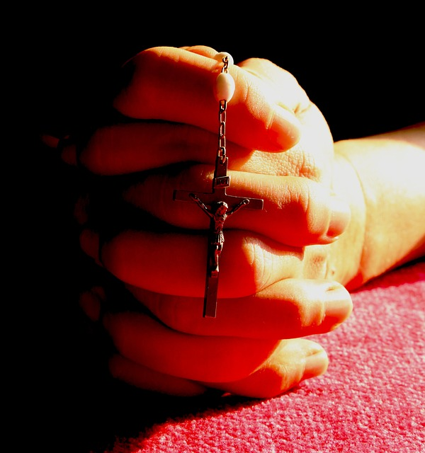 Rosary, Prayer, Pray, Red,