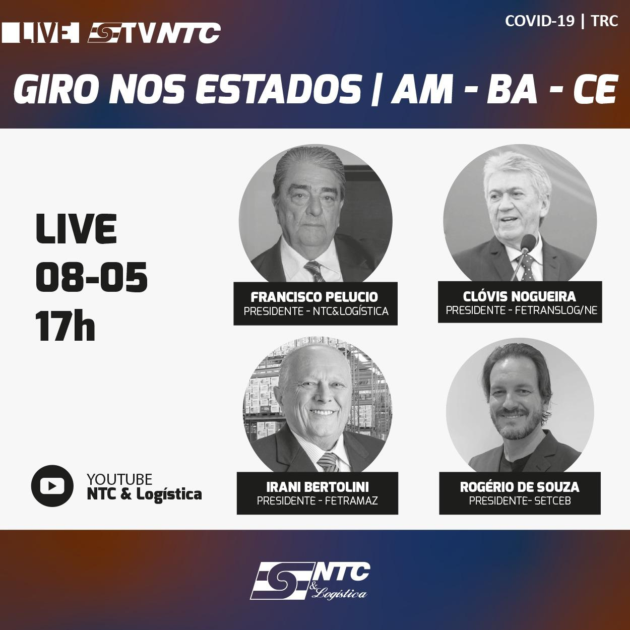 'Giro nos estados' recebe a participação hoje das federações do Amazonas, Bahia e Ceará