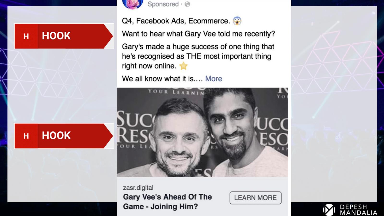 Пример рекламного объявления на Facebook