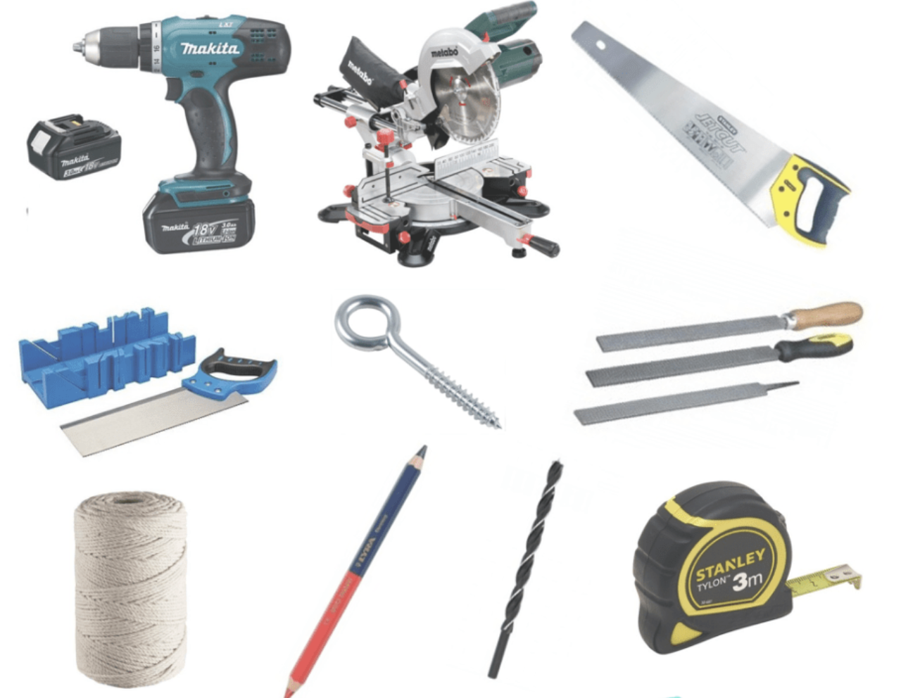 The tools you need for the DIY bird feeder project
