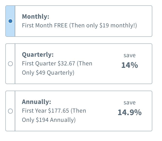 Aweber vs getresponse package discounts