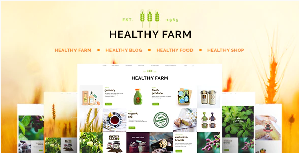 10.Healthy Farm | Food & Agriculture WordPress Theme