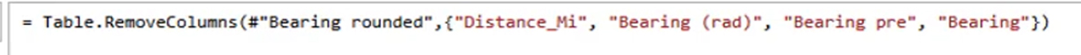 distance and bearing in Power BI