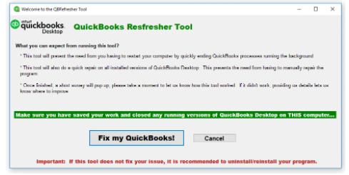 quickbooks refresher tool : Fix my Quickbooks
