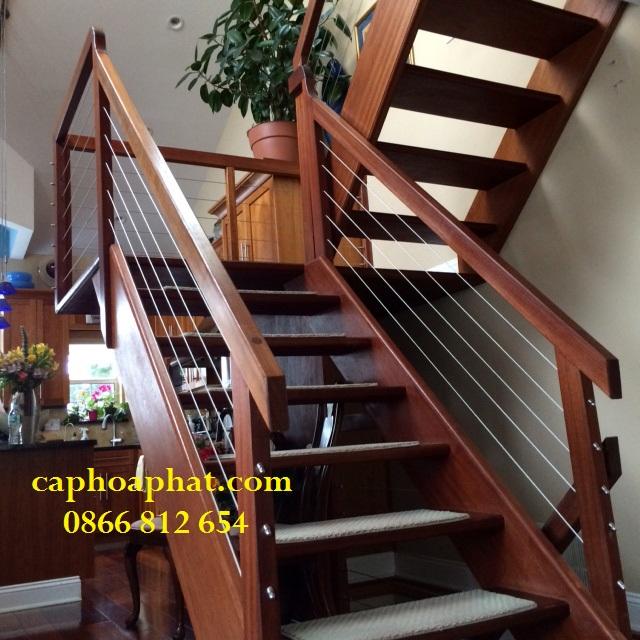 Cầu thang dây cáp bền đẹp, cho thời gian sử dụng lâu năm