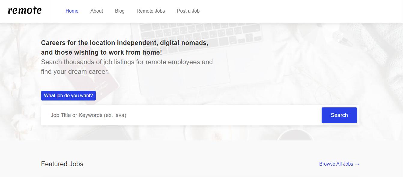 Remote.io - Remote Jobs Website