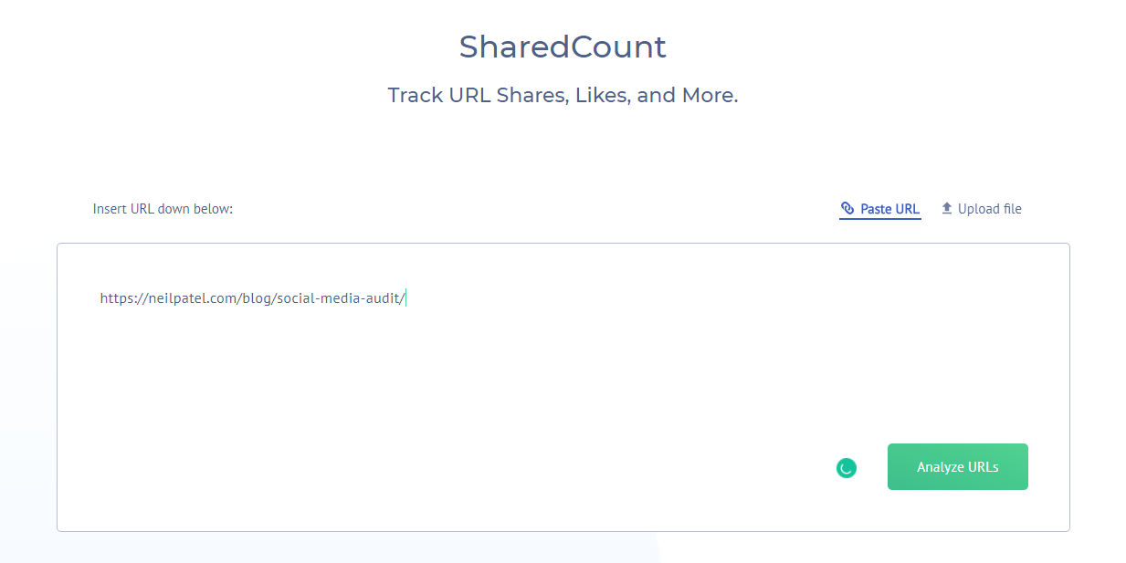 Sharedcount screenshot1