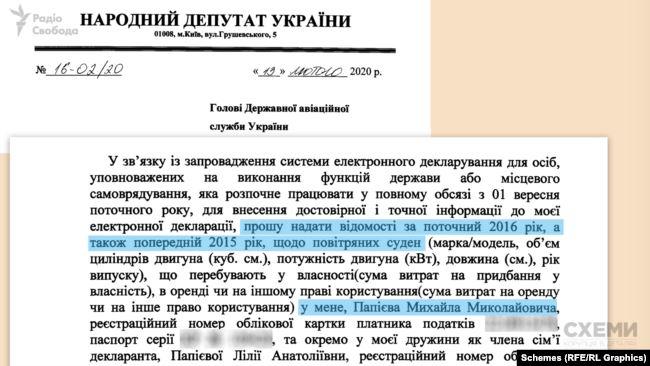 Депутат з ОПЗЖ просив надати відомості за 2015 та 2016 роки, хоча листа писав на початку 2020-го