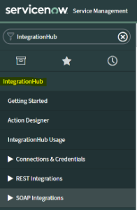 ServiceNow IntegrationHub application