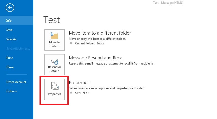how to add header in outlook email