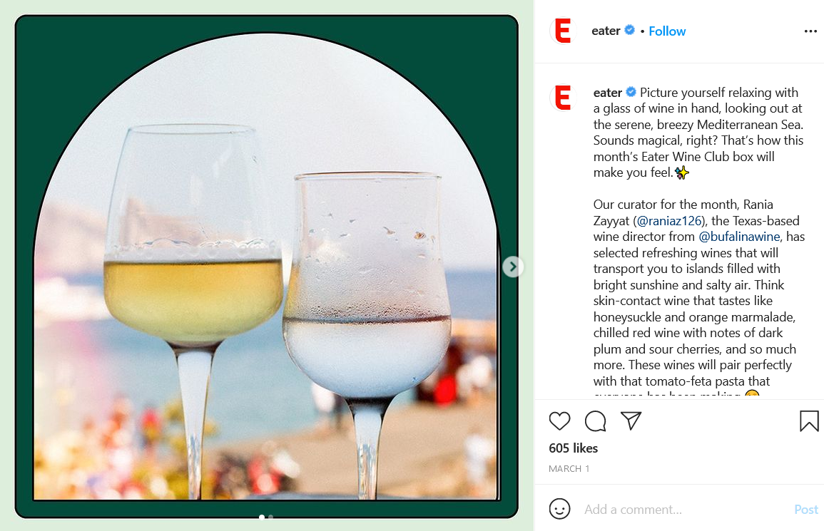 wine club subscription by Eater