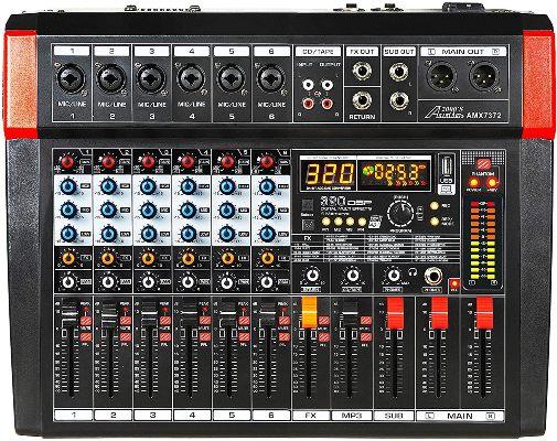 Audio2000'S AMX7372 Six-Channel Audio Mixer