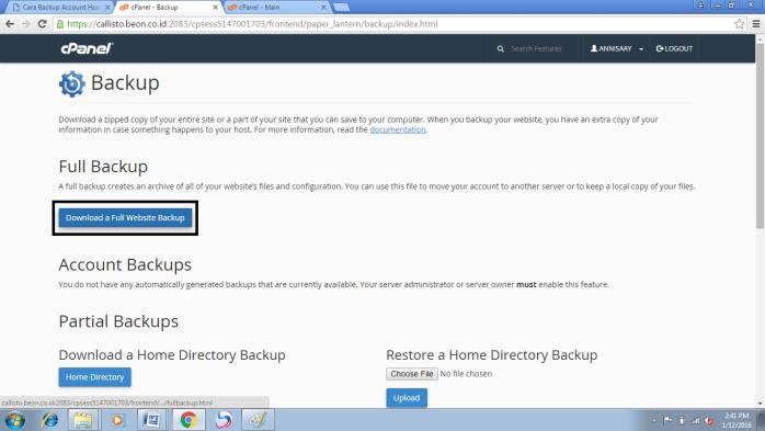 Restore Account Hosting
